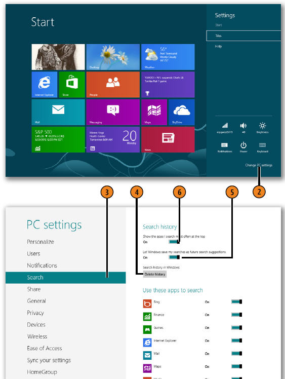 customizing search windows 8