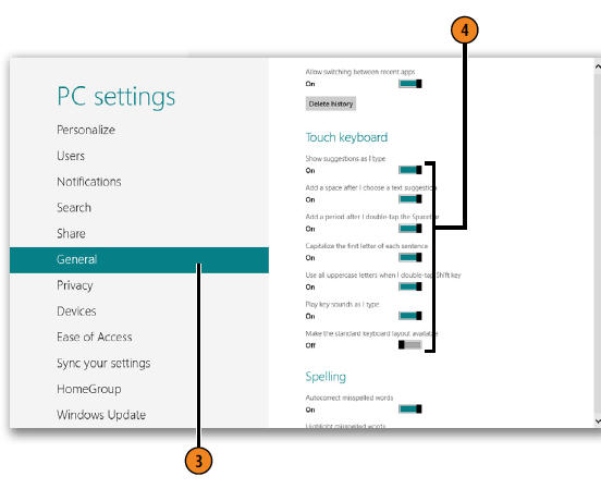 adjusting touch keyboard settings windows 8